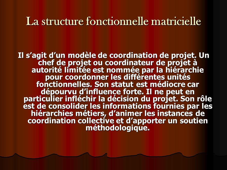La structure fonctionnelle matricielle