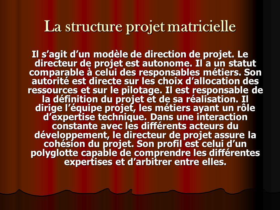 La structure projet matricielle