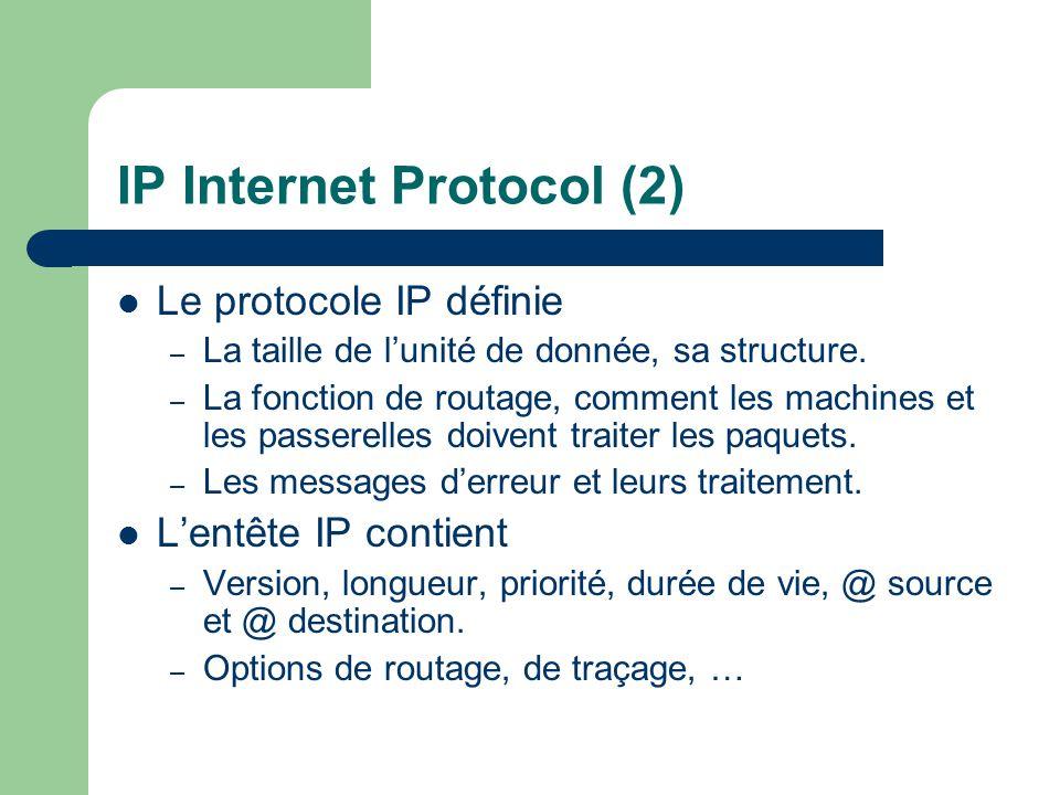 IP Internet Protocol (2)