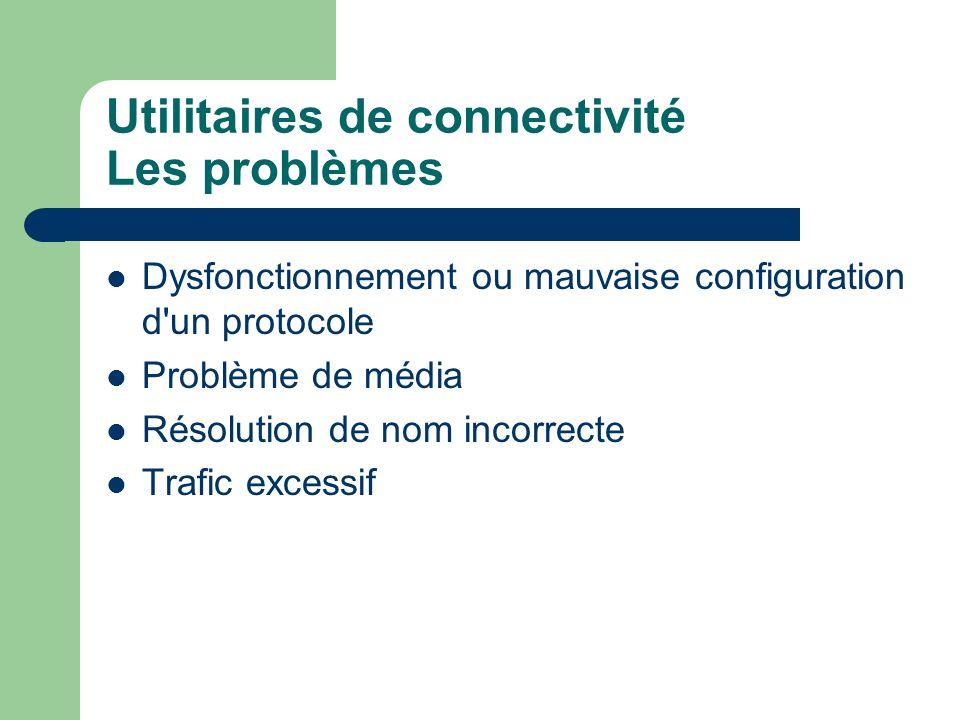 Utilitaires de connectivité Les problèmes