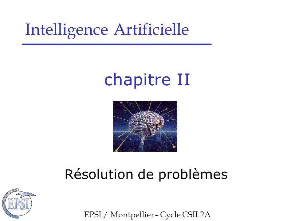 Chapitre II : Résolution de problèmes Résolution de problèmes
