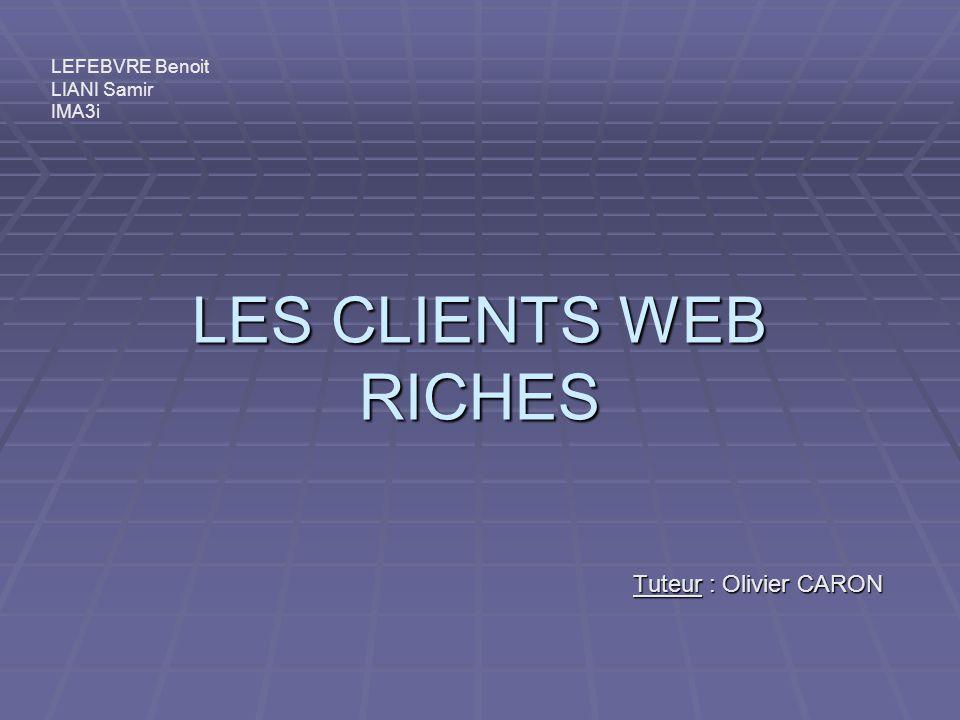LES CLIENTS WEB RICHES Tuteur : Olivier CARON LEFEBVRE Benoit