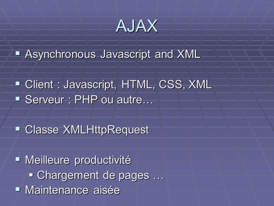 AJAX Asynchronous Javascript and XML