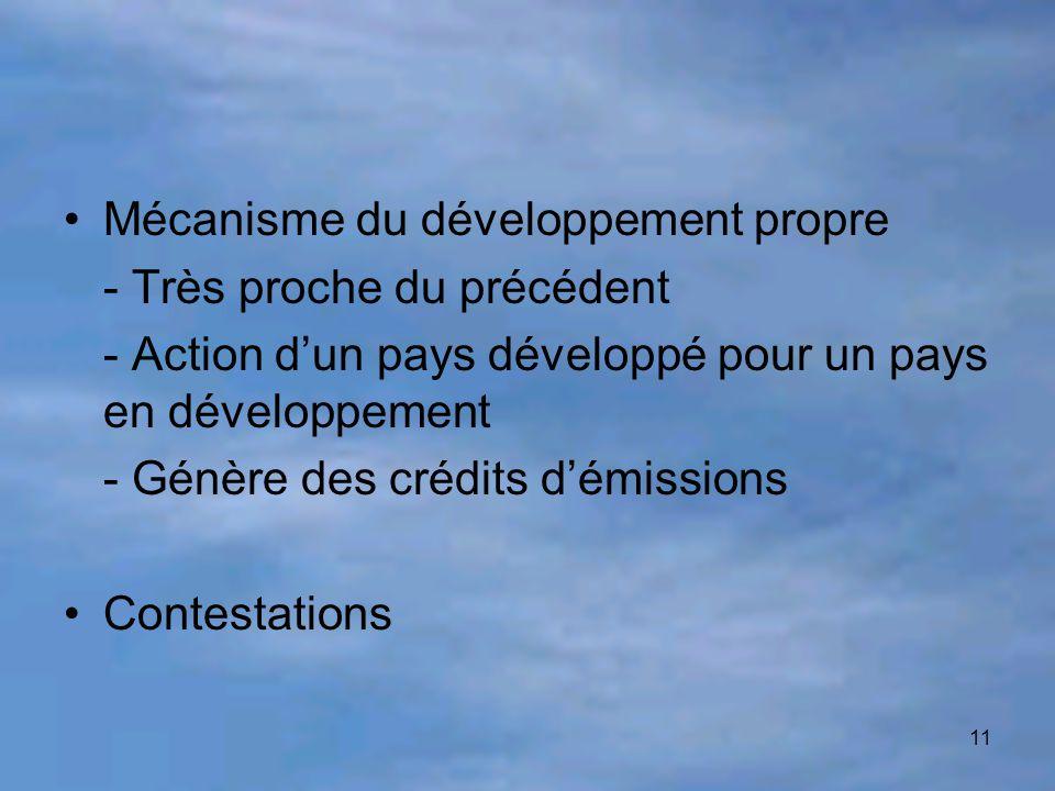 Mécanisme du développement propre