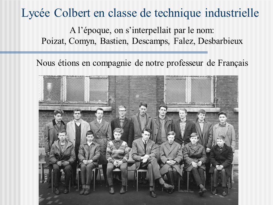 Lycée Colbert en classe de technique industrielle