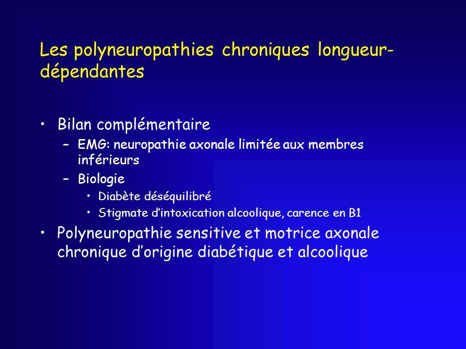Les polyneuropathies chroniques longueur-dépendantes