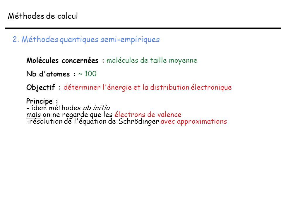 2. Méthodes quantiques semi-empiriques