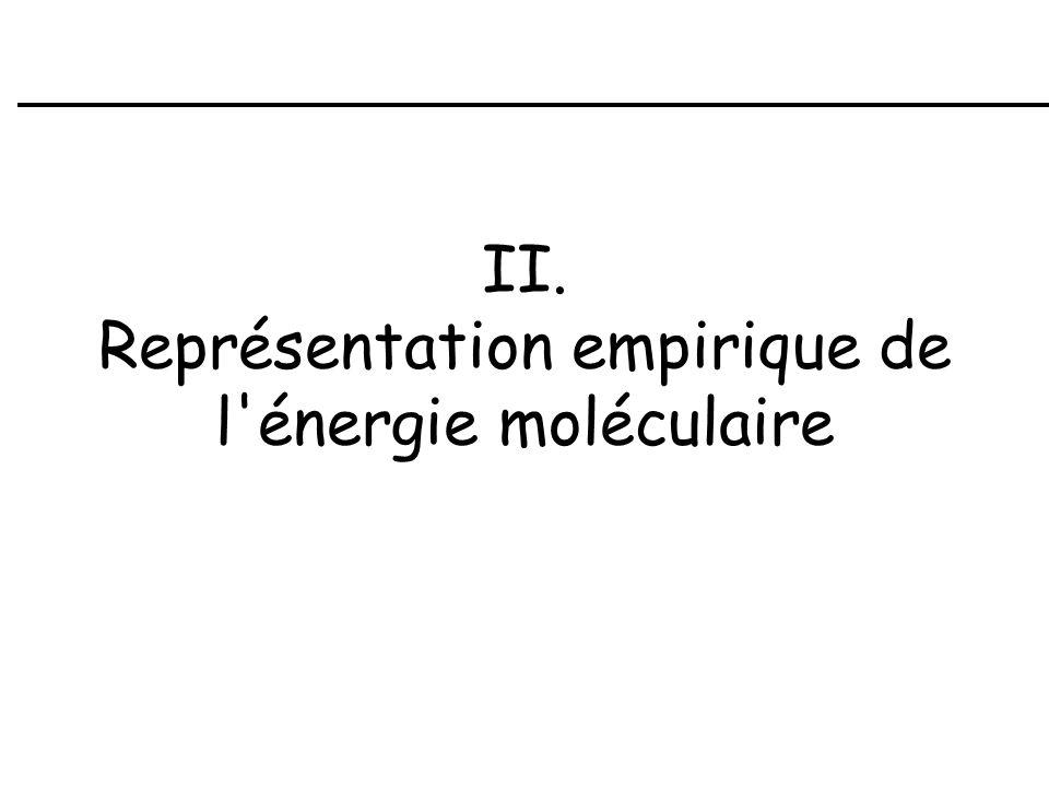 II. Représentation empirique de l énergie moléculaire