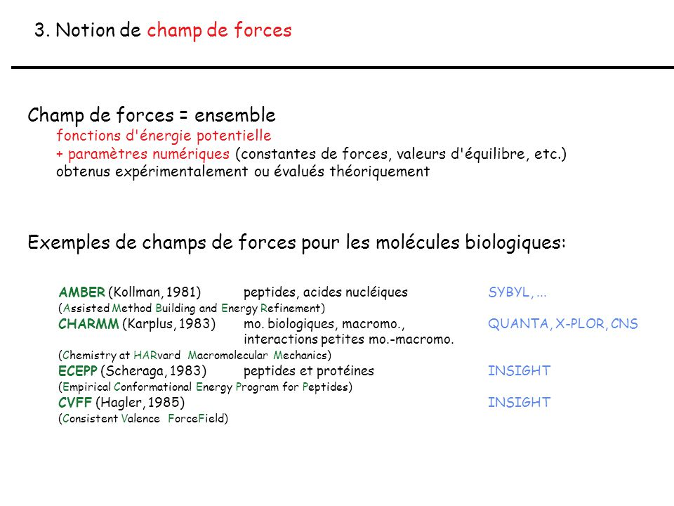 3. Notion de champ de forces