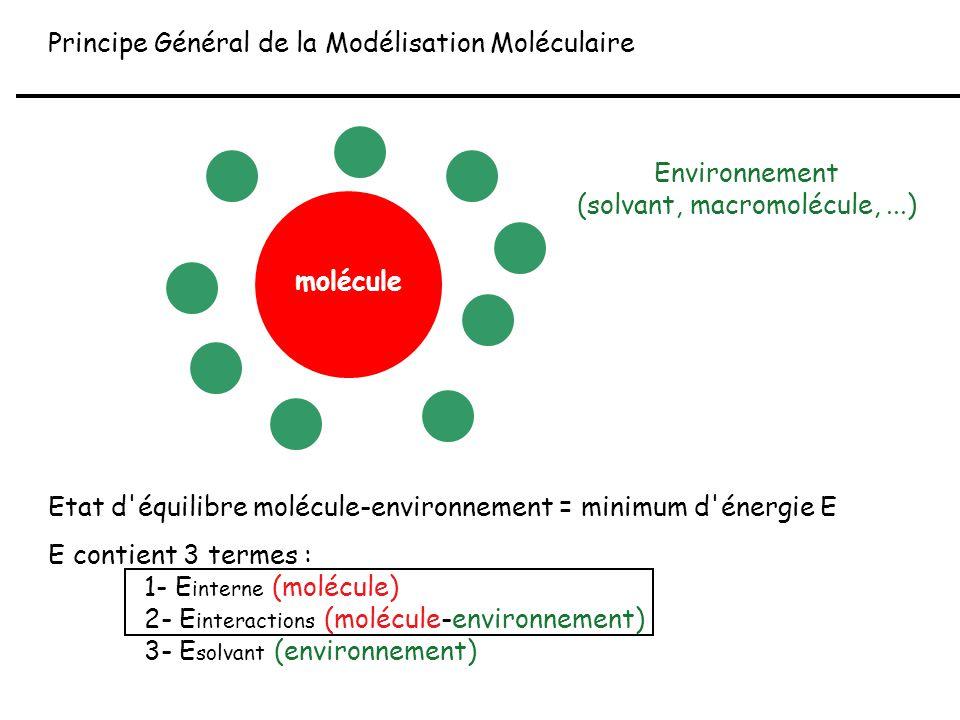 Environnement (solvant, macromolécule, ...)