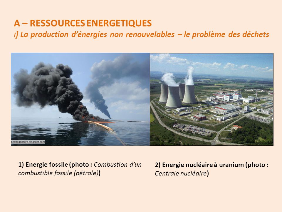 A – RESSOURCES ENERGETIQUES