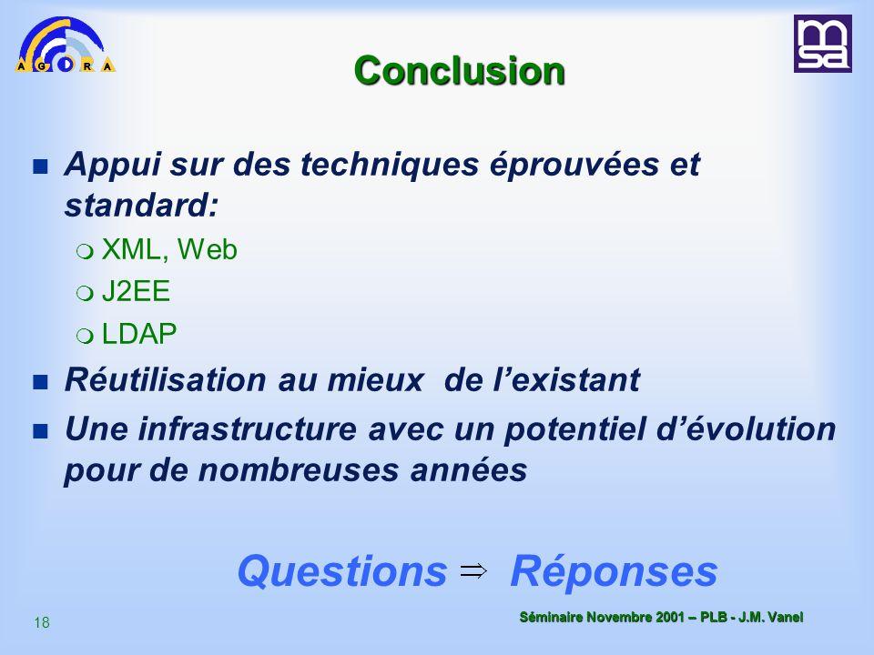 Questions Réponses Conclusion