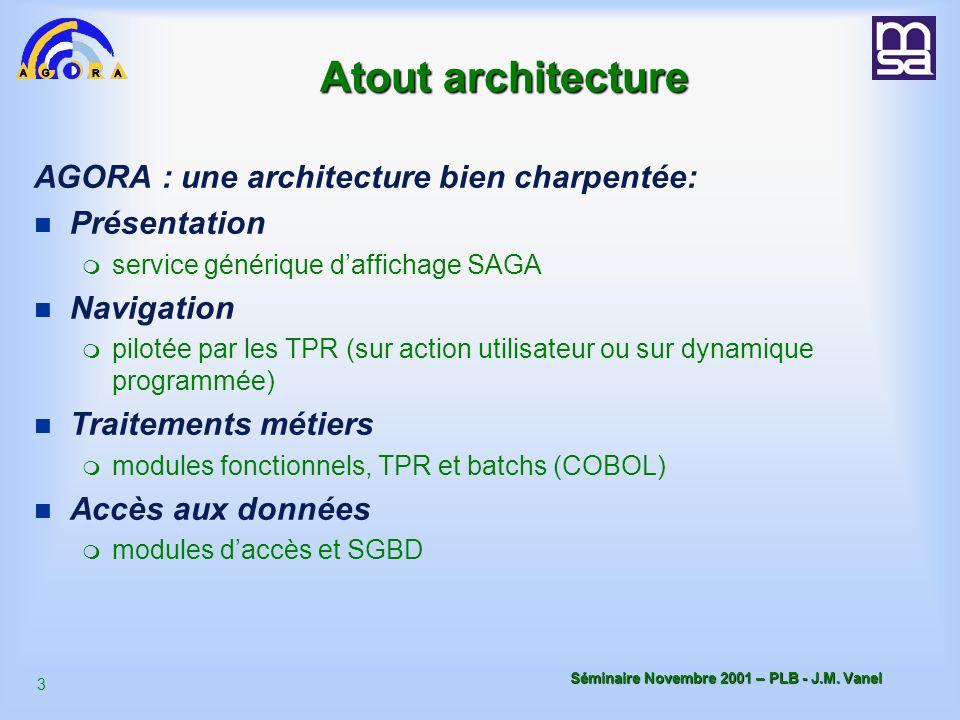 Atout architecture AGORA : une architecture bien charpentée: