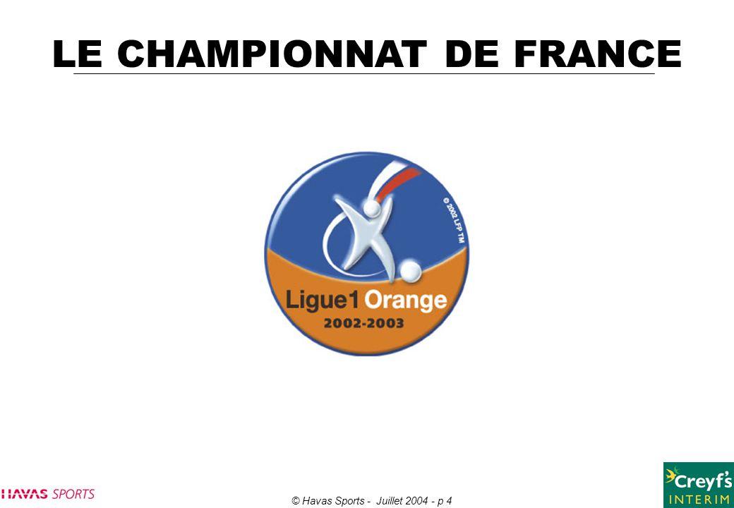 LE CHAMPIONNAT DE FRANCE