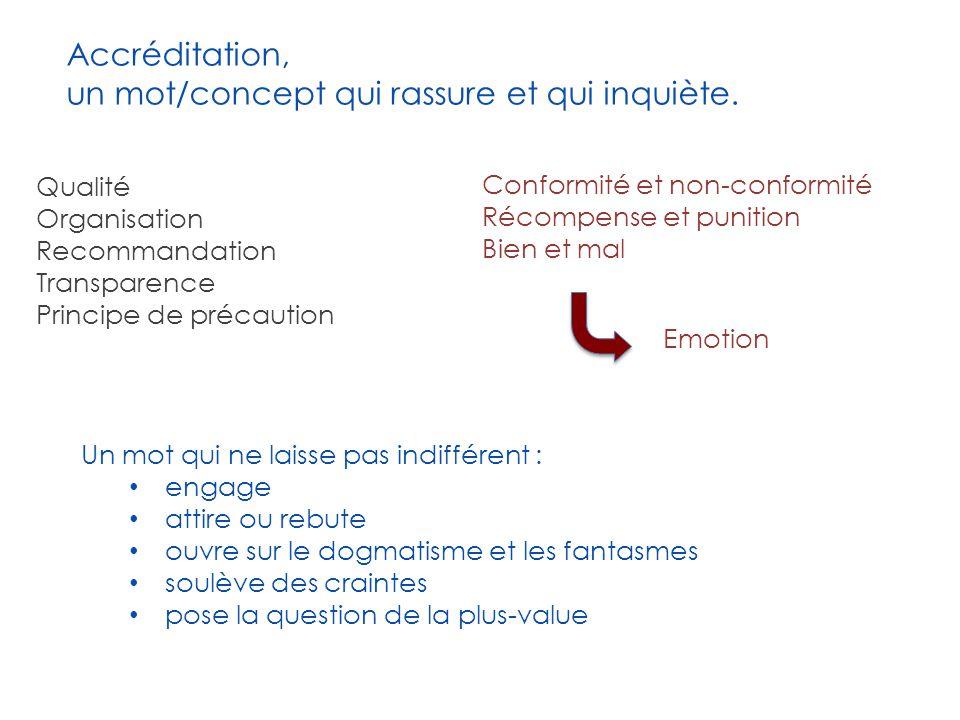 Accréditation, un mot/concept qui rassure et qui inquiète.