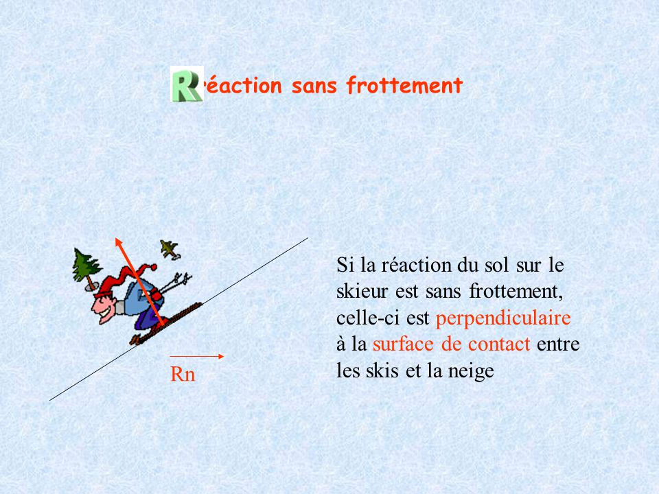 réaction sans frottement