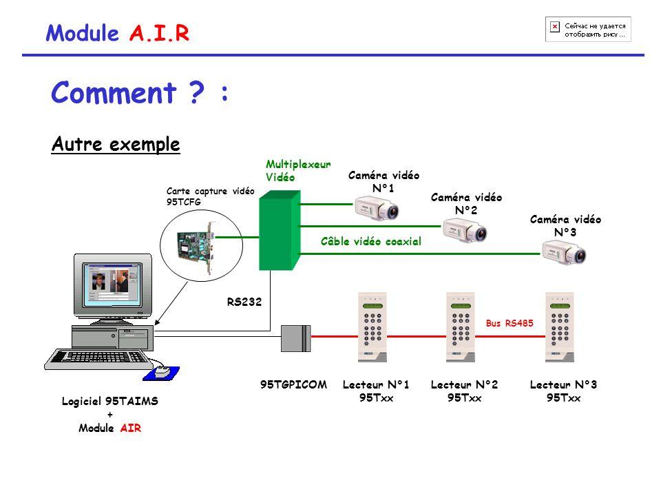 Comment : Module A.I.R Autre exemple Caméra vidéo N°3