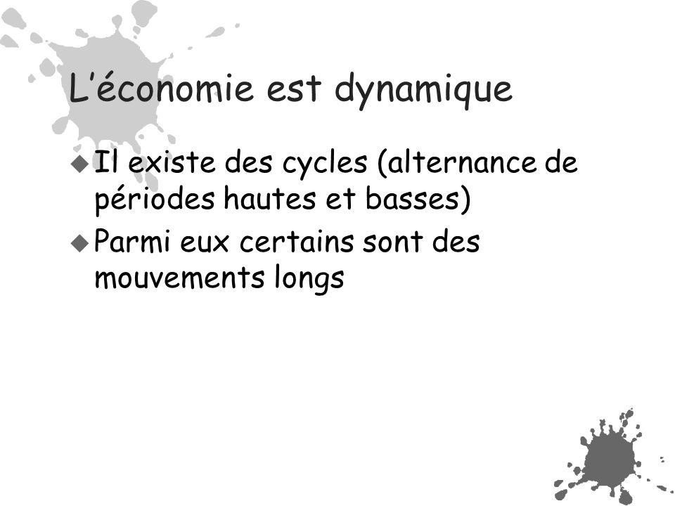 L'économie est dynamique