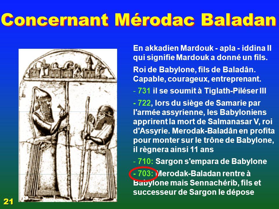 Concernant Mérodac Baladan