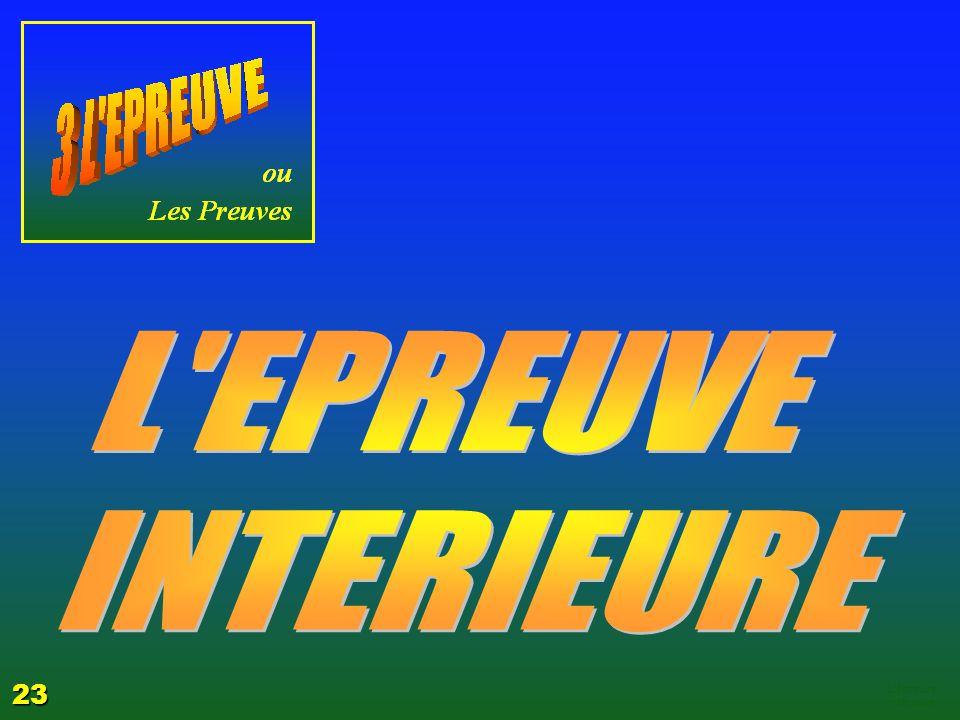 L EPREUVE INTERIEURE 23 EZECHIAS: C- L Epreuve 06/04/2017
