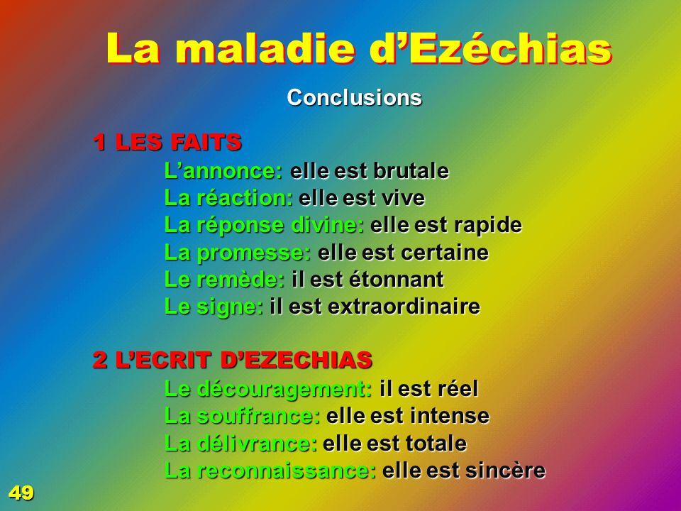 EZECHIAS: C- L Epreuve Conclusions