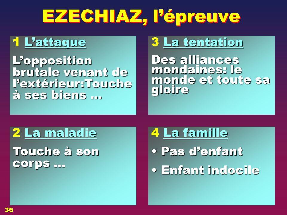 EZECHIAZ, l'épreuve 1 L'attaque
