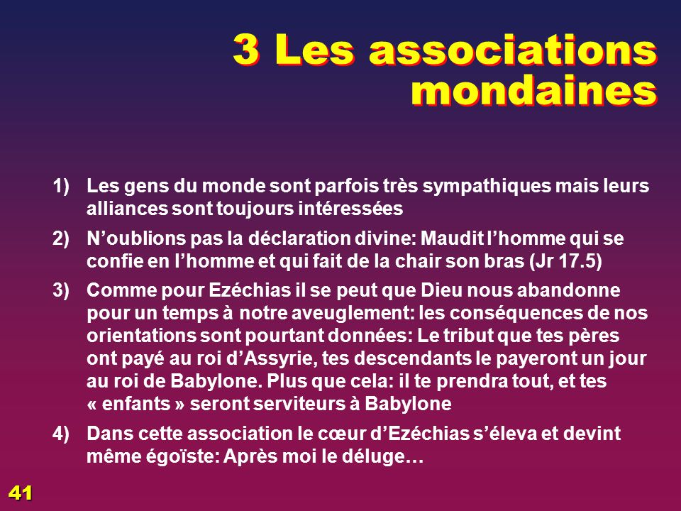 3 Les associations mondaines