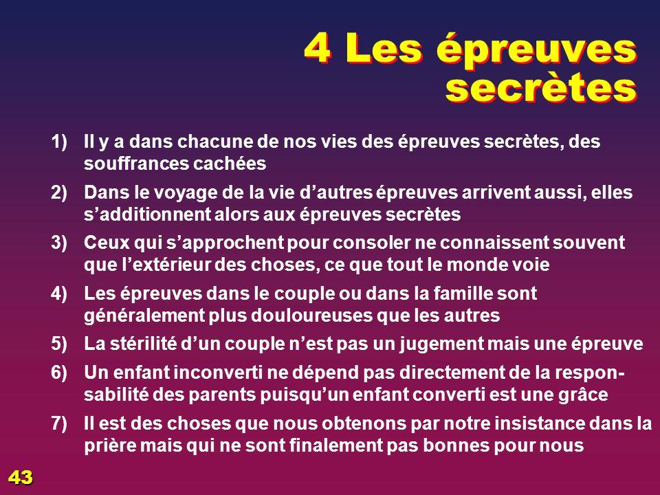 EZECHIAS: C- L Epreuve 06/04/2017. 4 Les épreuves secrètes. Il y a dans chacune de nos vies des épreuves secrètes, des souffrances cachées.