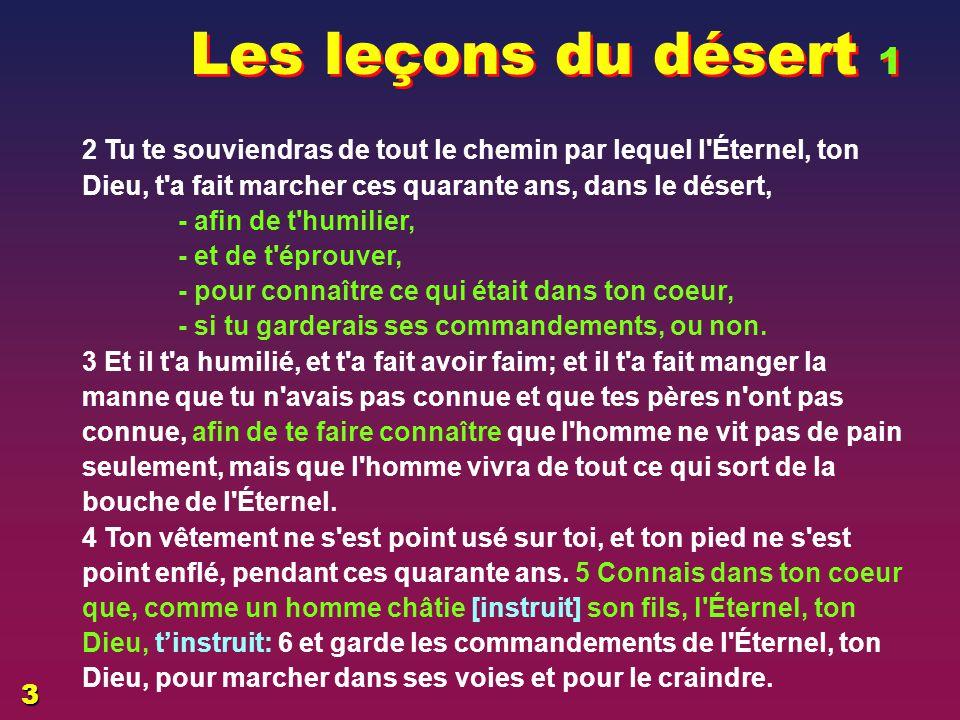 EZECHIAS: C- L Epreuve Les leçons du désert 1. 06/04/2017.