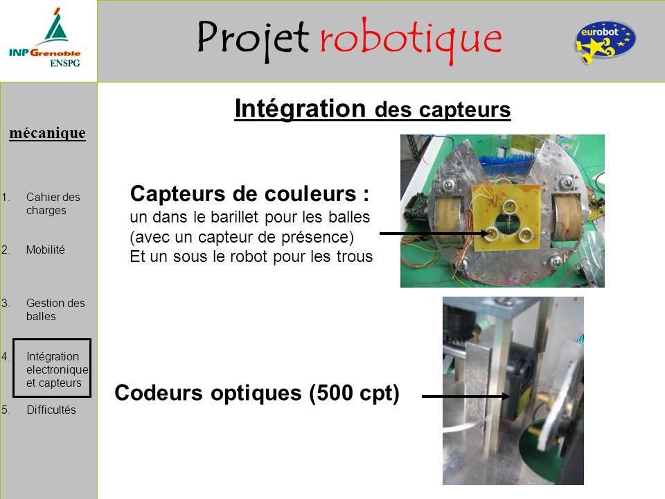 Intégration des capteurs