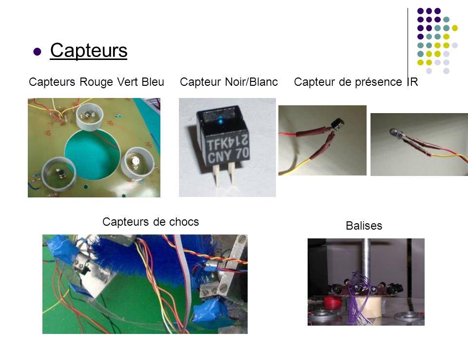 Capteurs Capteurs Rouge Vert Bleu Capteur Noir/Blanc