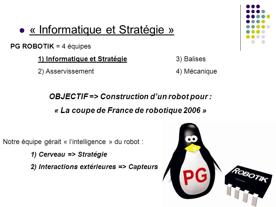 « Informatique et Stratégie »