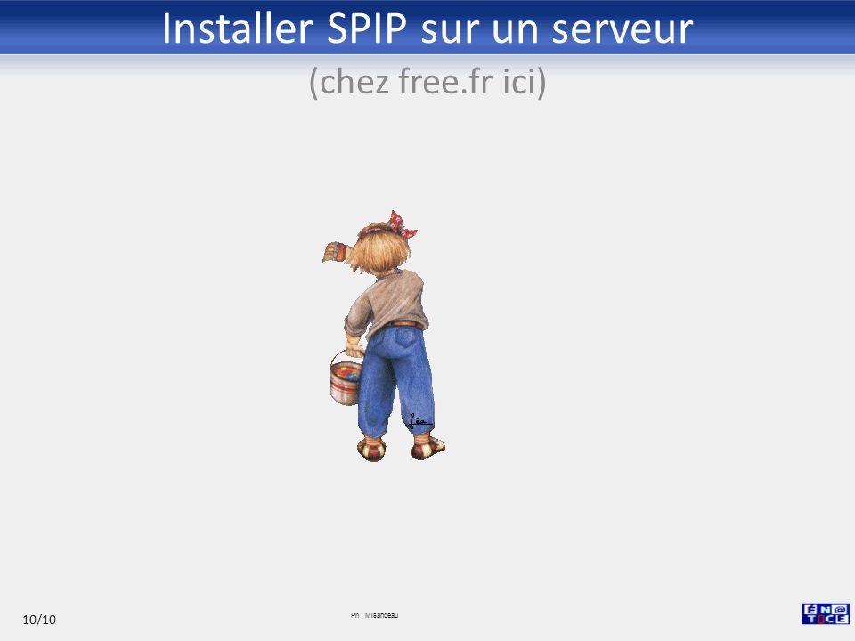Installer SPIP sur un serveur