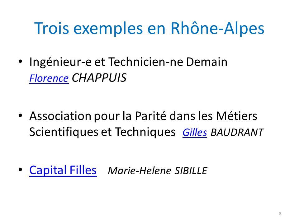 Trois exemples en Rhône-Alpes