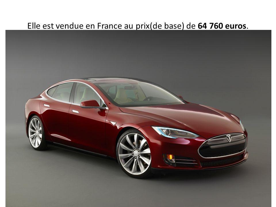 Elle est vendue en France au prix(de base) de 64 760 euros.