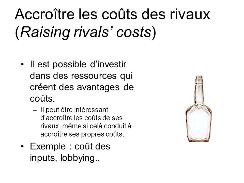 Accroître les coûts des rivaux (Raising rivals' costs)