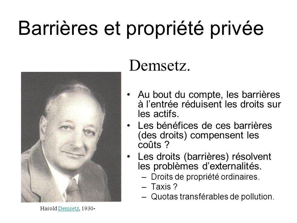 Barrières et propriété privée
