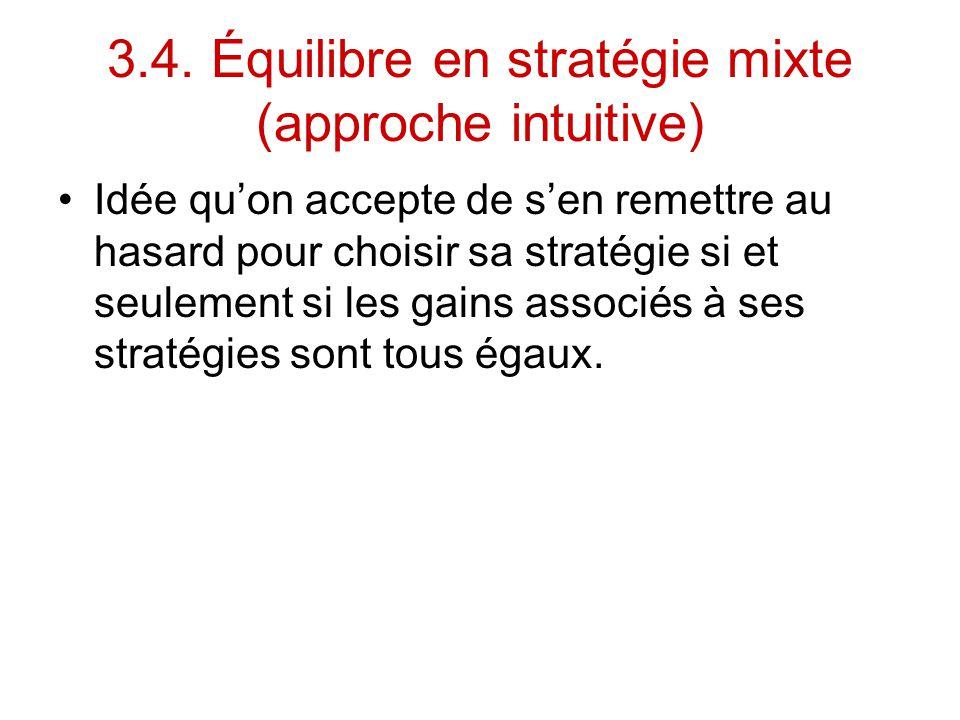 3.4. Équilibre en stratégie mixte (approche intuitive)