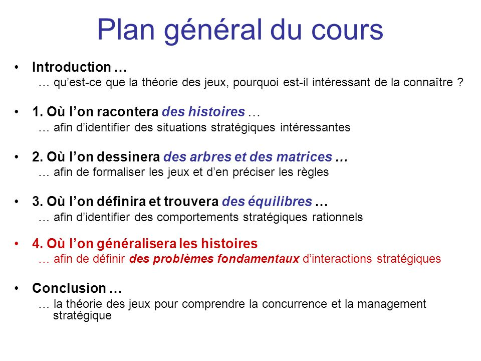 Plan général du cours Introduction …