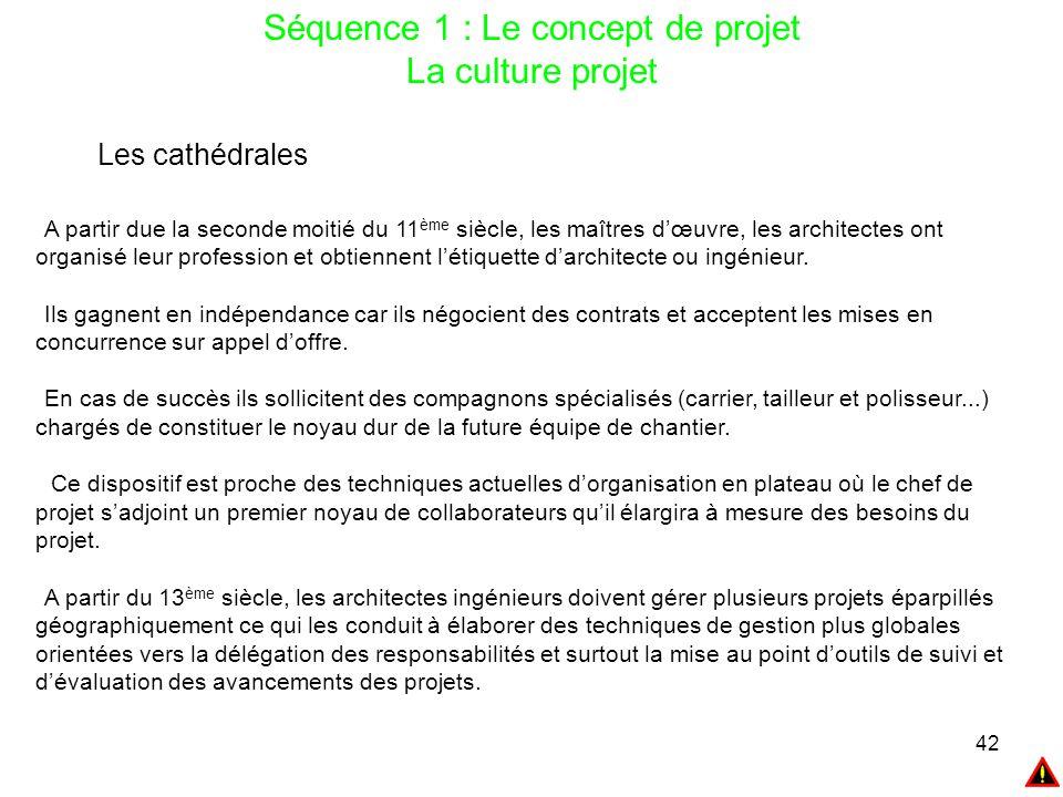 Séquence 1 : Le concept de projet