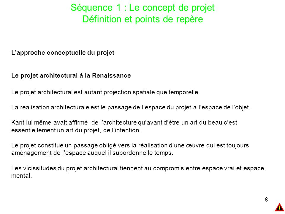 Master 2 gestion de projet ppt t l charger for Projet architectural definition