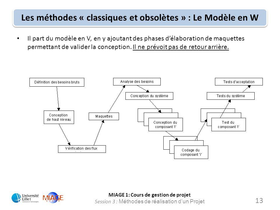 Les méthodes « classiques et obsolètes » : Le Modèle en W