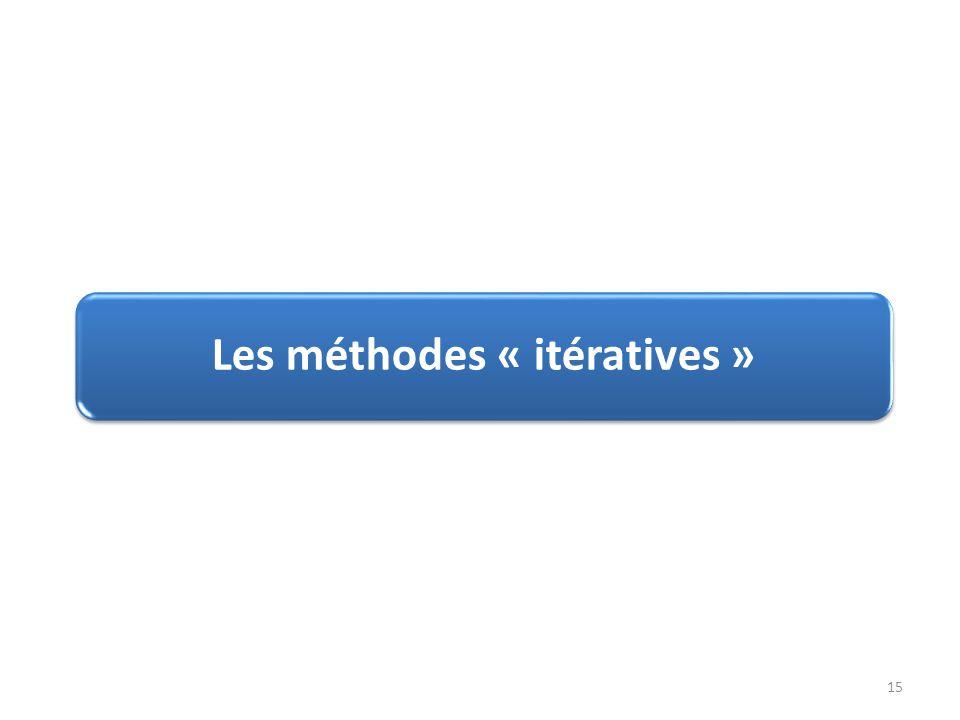 Les méthodes « itératives »