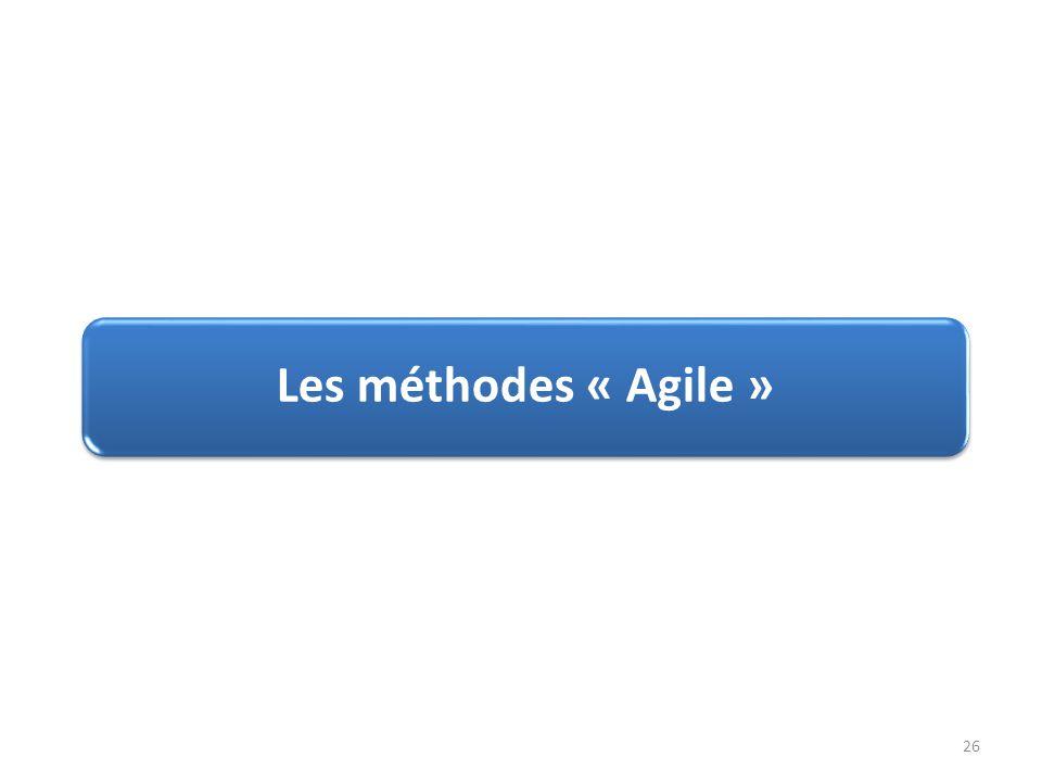 Les méthodes « Agile »