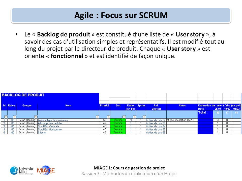 Agile : Focus sur SCRUM
