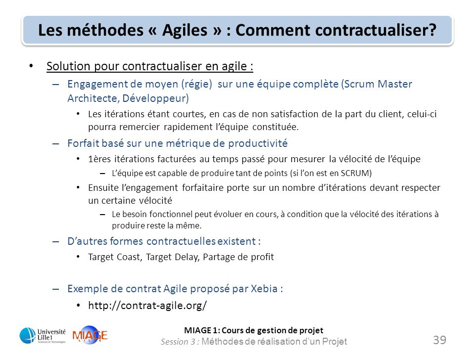 Les méthodes « Agiles » : Comment contractualiser