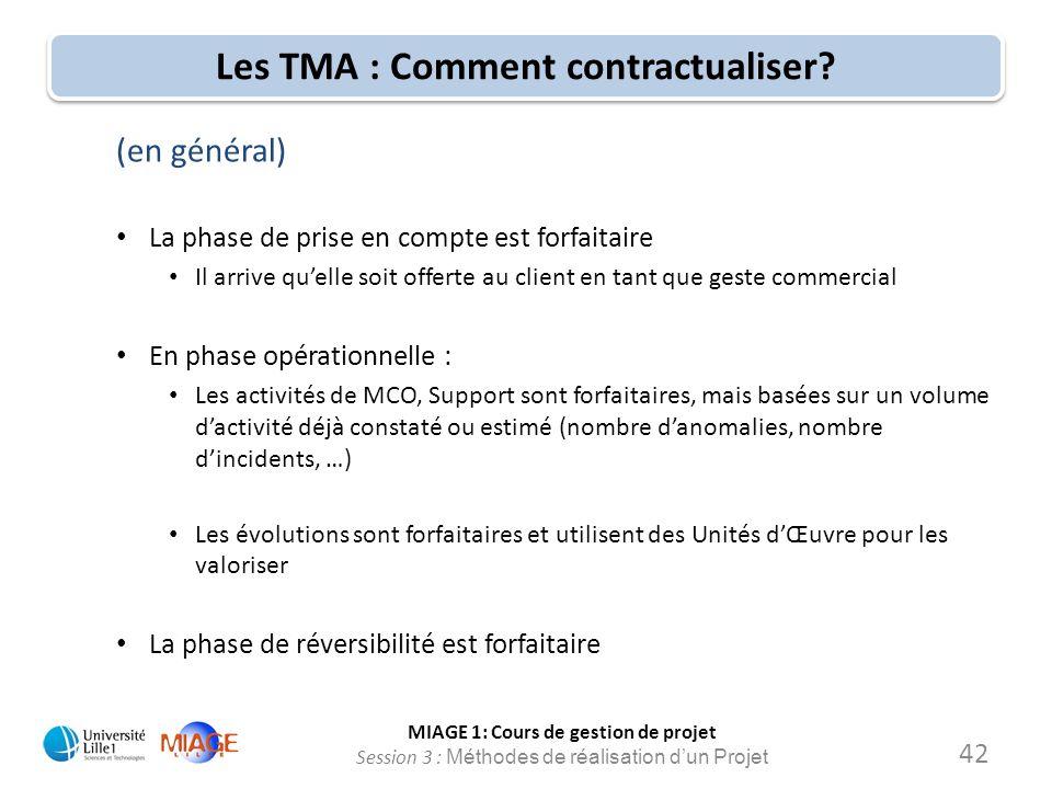 Les TMA : Comment contractualiser