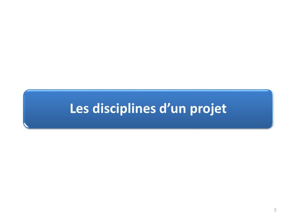 Les disciplines d'un projet