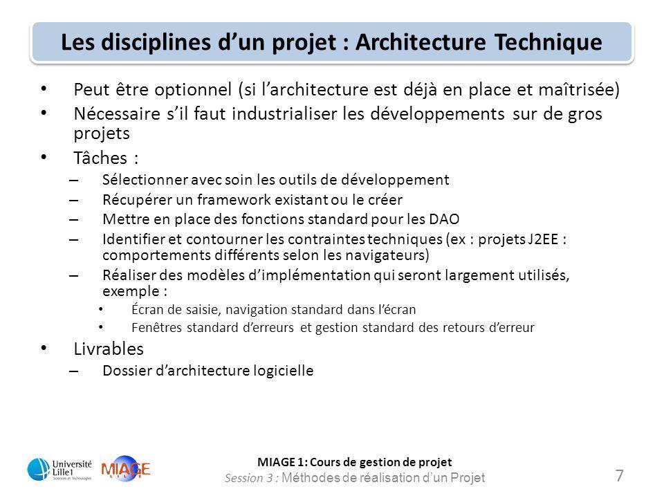 Les disciplines d'un projet : Architecture Technique