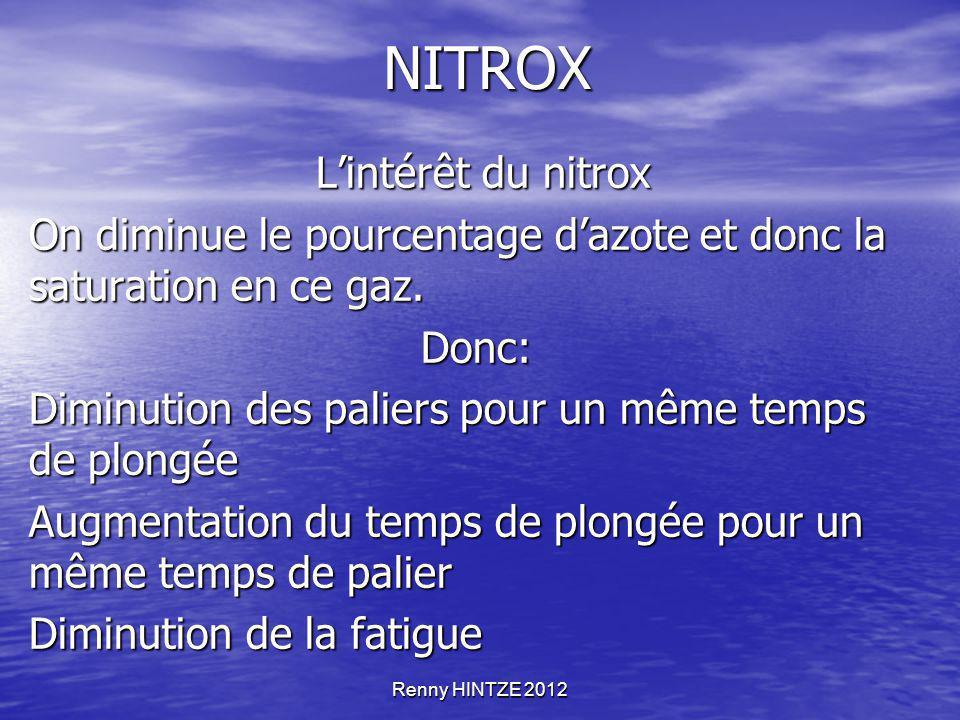 NITROX L'intérêt du nitrox